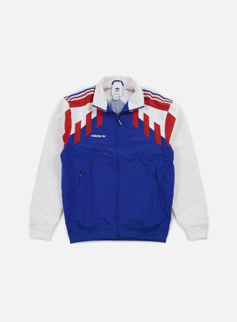 felpe adidas originals tri colore track top bold blue