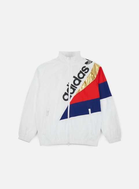 felpe adidas originals tribe track top windbreaker white