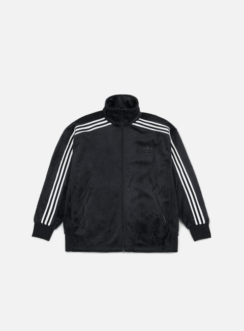 felpe adidas originals velour beckenbauer tracktop black
