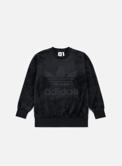 Adidas Originals - Velour Crewneck, Black