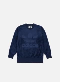 Adidas Originals - Velour Crewneck, Collegiate Navy