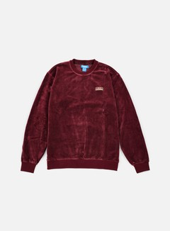 Adidas Originals - Velour Crewneck, Maroon 1
