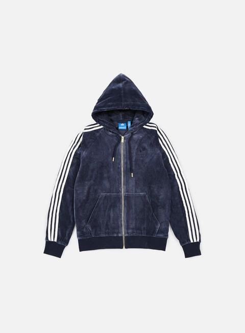 Outlet e Saldi Felpe con Cappuccio Adidas Originals Velour Zip Hoodie