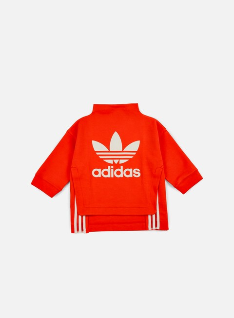 felpe adidas originals wmns logo sweatshirt coral red