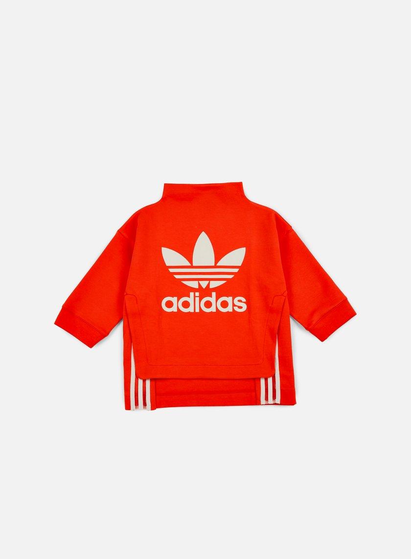 Adidas Originals - WMNS Logo Sweatshirt, Core Red