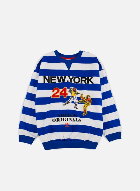 felpe adidas originals wmns new york archive crewneck blue