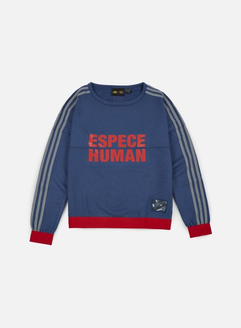 felpe adidas originals wmns pharrell williams hu race sweatshirt night marine scarlet