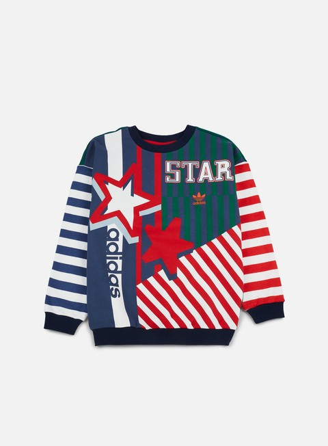 felpe adidas originals wmns star archive crewneck multicolor
