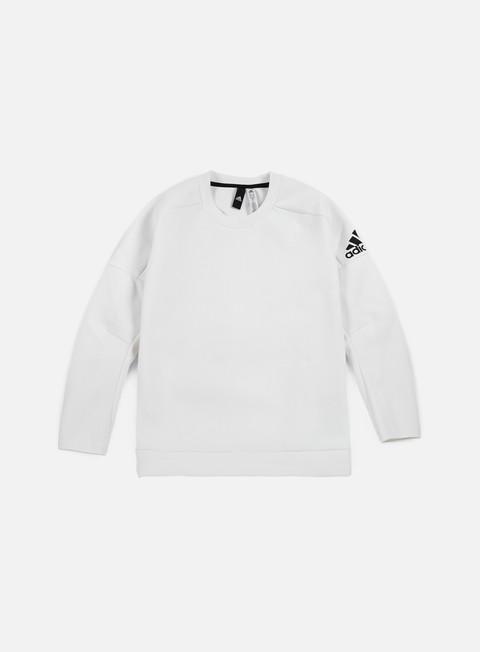 felpe adidas originals wmns zne crewneck white