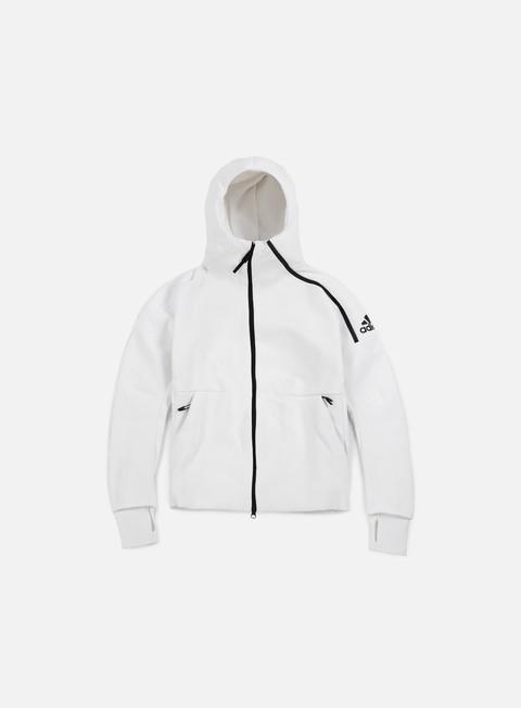 felpe adidas originals wmns zne hoody white