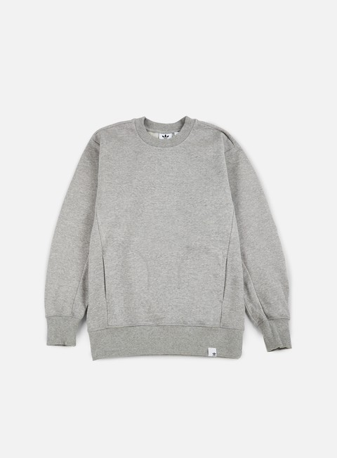 felpe adidas originals xbyo crewneck medium grey heather