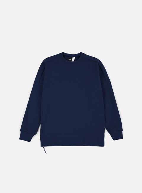 felpe adidas originals zne 2 crewneck collegiate navy