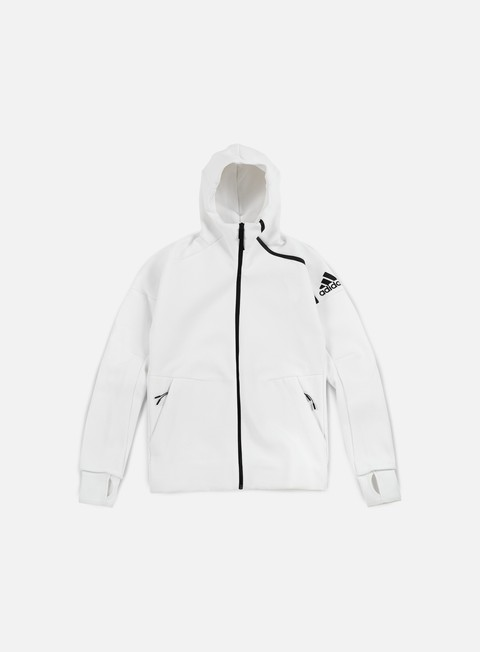 felpe adidas originals zne hoody white
