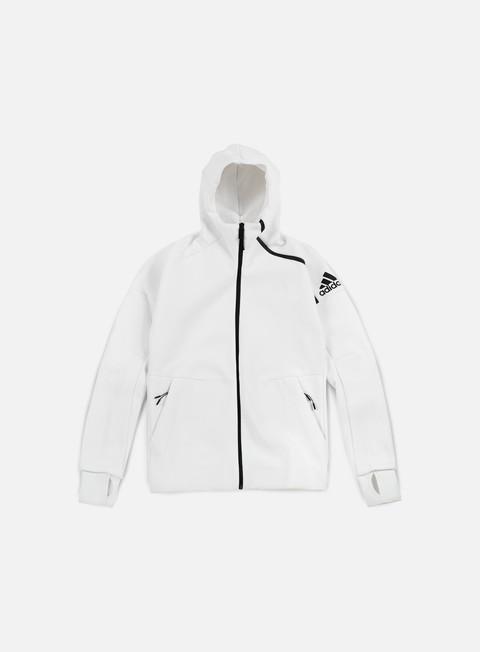 felpe adidas originals zne hoody white