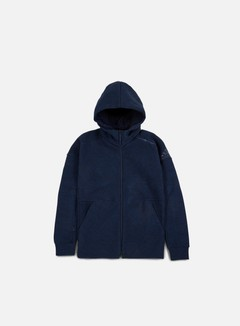 Adidas Originals - ZNE Travel Hoody, Storm Heather/Collegiate Navy 1