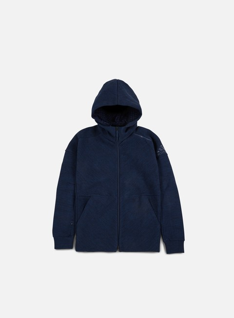 felpe adidas originals zne travel hoody storm heather collegiate navy