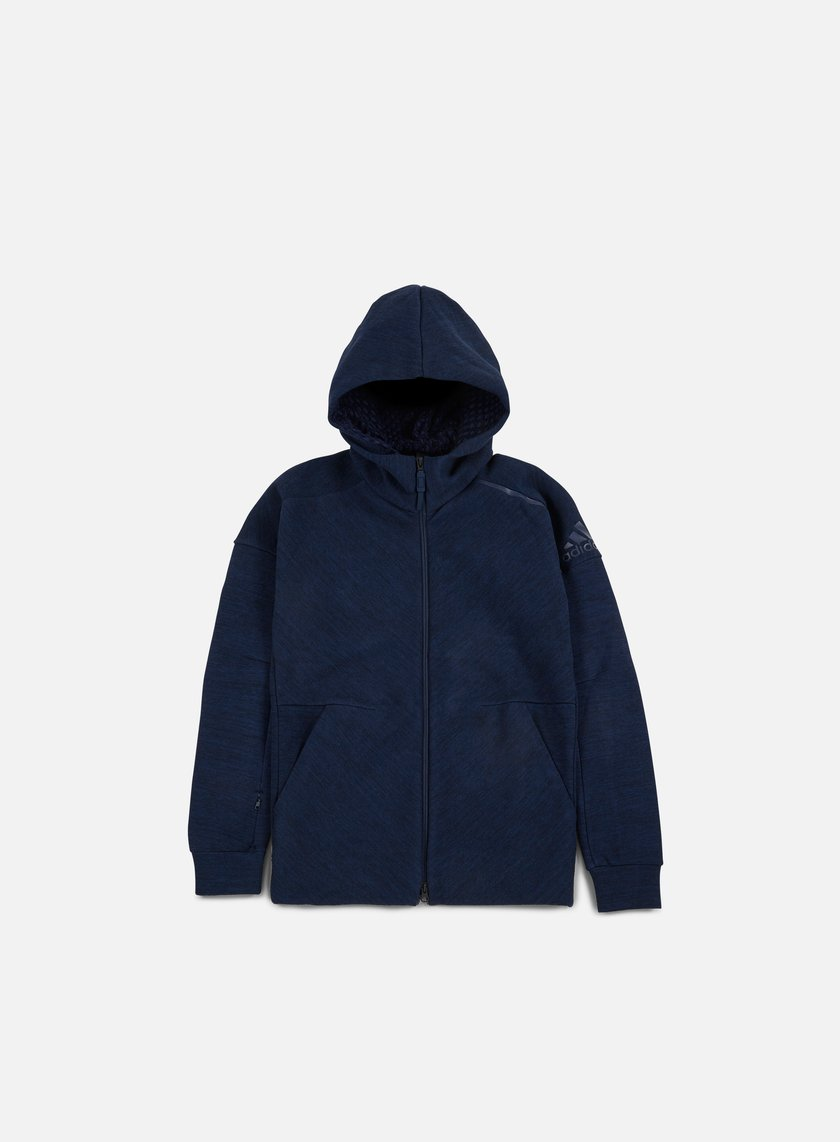 Adidas Originals - ZNE Travel Hoody, Storm Heather/Collegiate Navy