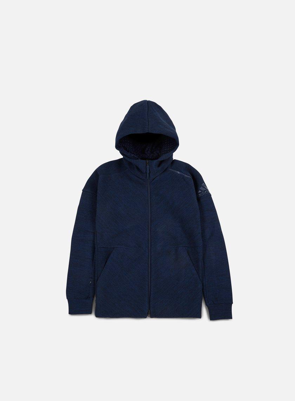 Adidas Originals - ZNE Travel Hoody, Storm Heather/Collegiate Navy