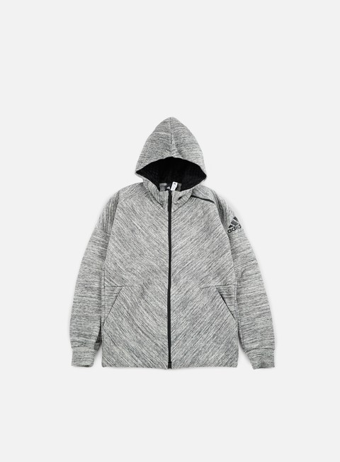 felpe adidas originals zne travel hoody storm heather medium grey