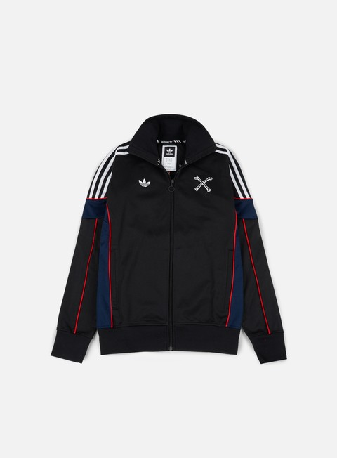 felpe adidas skateboarding bonethrower track jacket black white