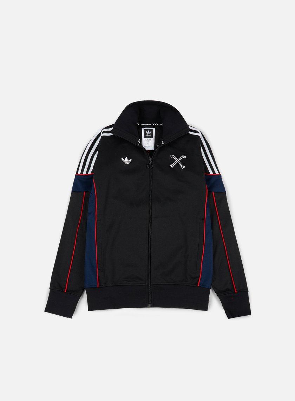 Adidas Skateboarding - Bonethrower Track Jacket, Black/White