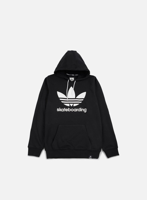 felpe adidas skateboarding clima 30 hoodie black white