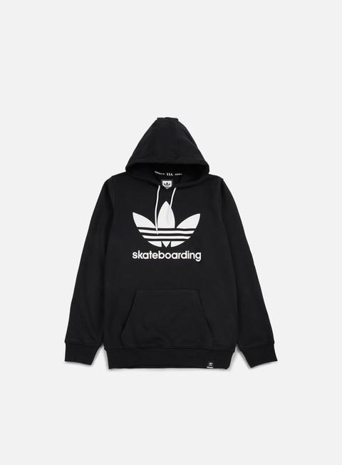 felpe adidas skateboarding clima 30 hoodie black white