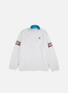 Adidas Skateboarding - Courtside Jacket, White/Energy Blue 1
