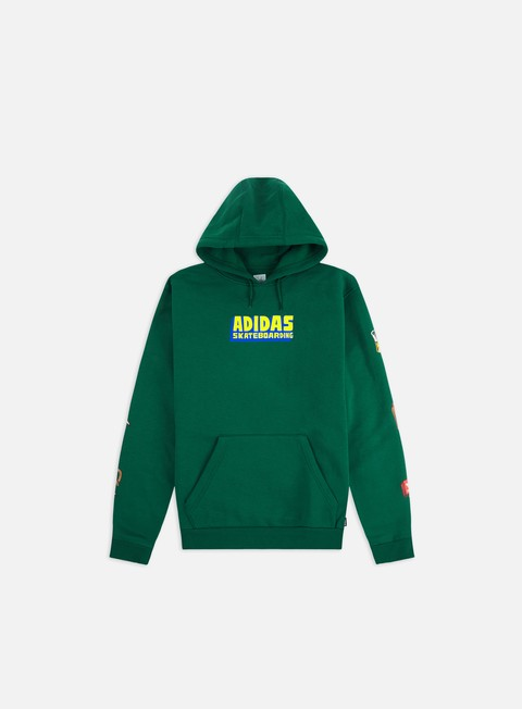 Felpe con Cappuccio Adidas Skateboarding Food Party Hoodie