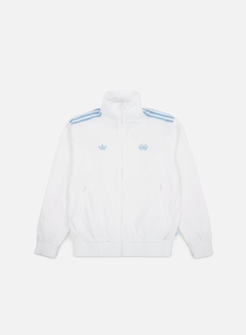 felpe adidas skateboarding krooked track top white clear blue