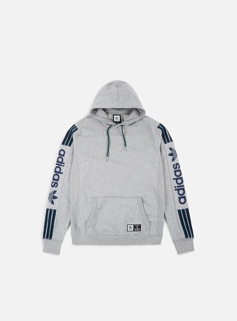 felpe adidas skateboarding quarzo fleece hoodie medium grey heather