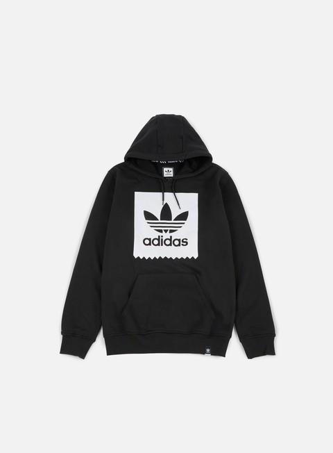 felpe adidas skateboarding solid bb hoodie black white