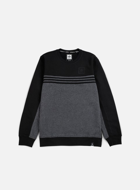 felpe adidas skateboarding toolkit crewneck black dark grey heather