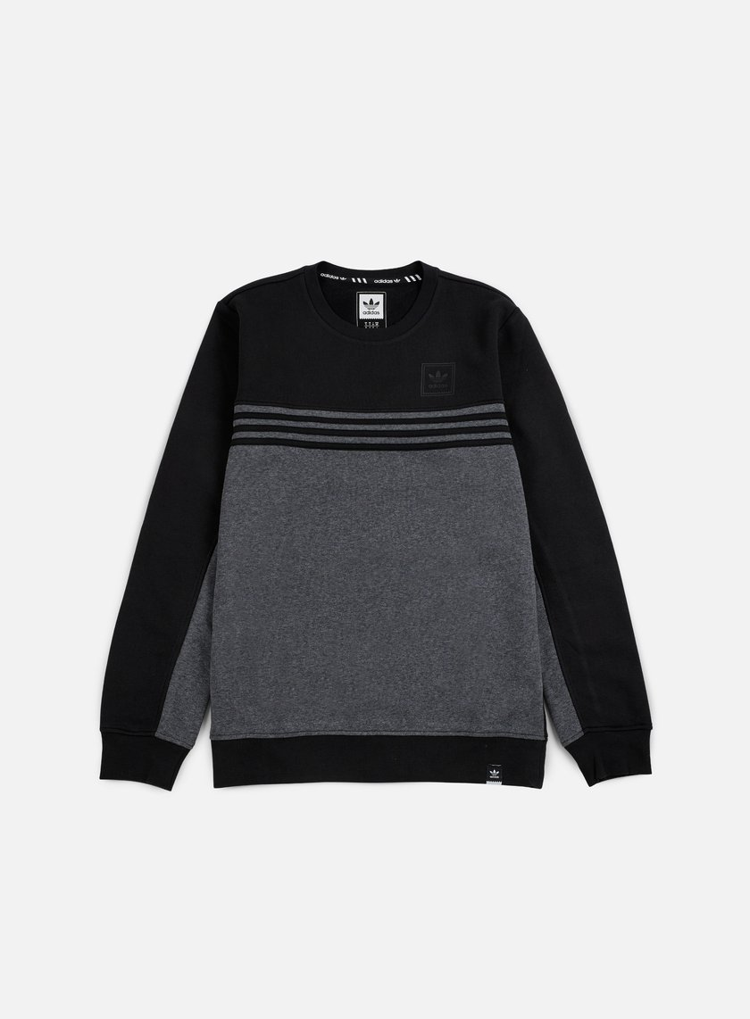 Adidas Skateboarding - Toolkit Crewneck, Black/Dark Grey Heather