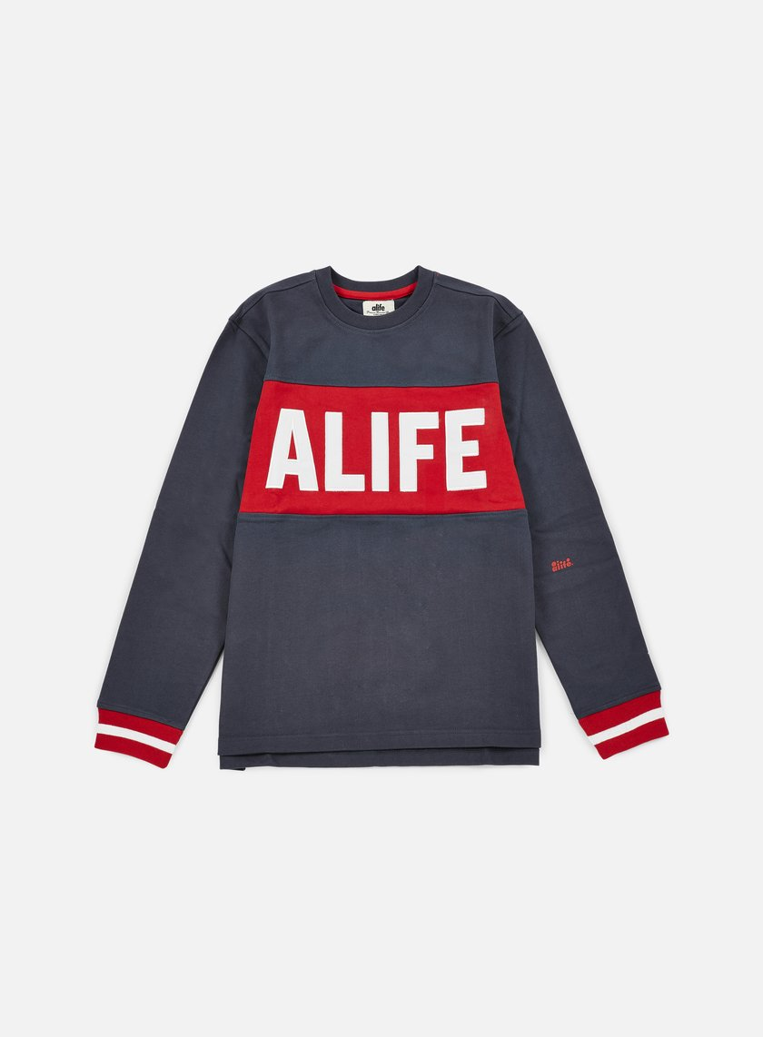 Alife - Blocked Box Crewneck, Eclipse Blue