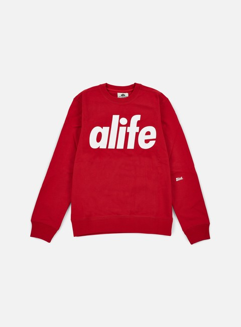 felpe alife core logo crewneck true red
