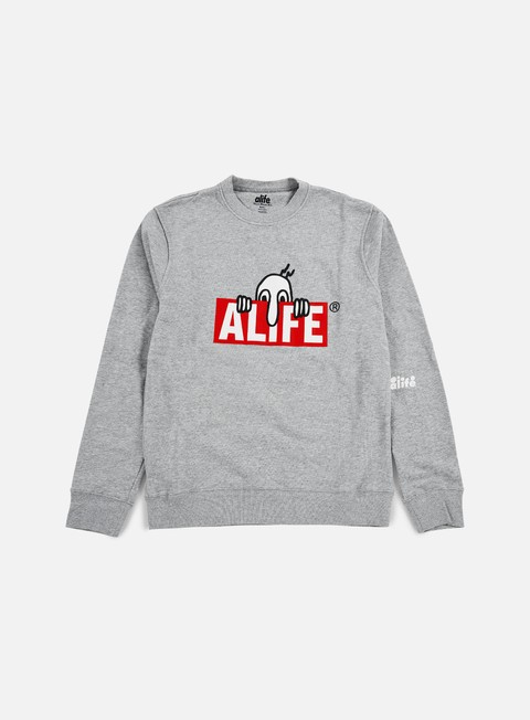felpe alife kilroy crewneck heather grey