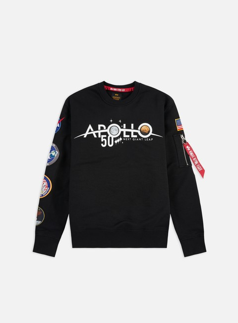 Felpe Girocollo Alpha Industries Apollo 50 Patch Crewneck