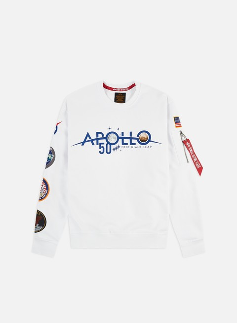 Outlet e Saldi Felpe Girocollo Alpha Industries Apollo 50 Patch Crewneck
