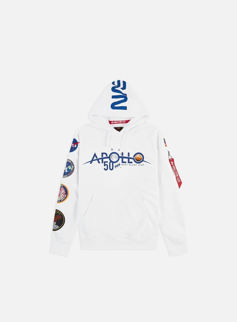 Felpe con Cappuccio Alpha Industries Apollo 50 Patch Hoodie