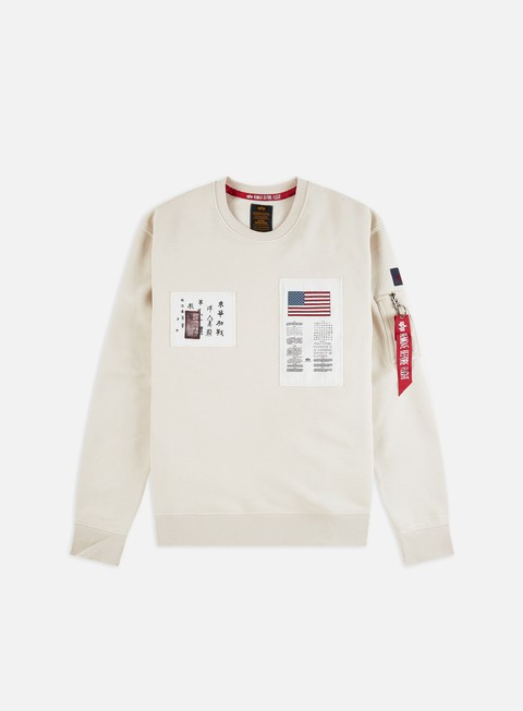 Outlet e Saldi Felpe Girocollo Alpha Industries Blood Chit Crewneck
