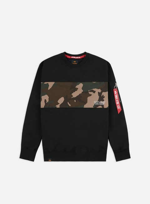 Crewneck Sweatshirts Alpha Industries Camo Bar Crewneck