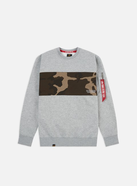 Outlet e Saldi Felpe Girocollo Alpha Industries Camo Bar Crewneck