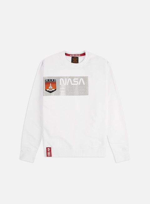 Outlet e Saldi Felpe Girocollo Alpha Industries Mars Reflective Crewneck