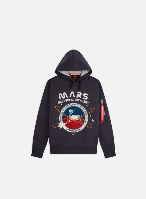 Outlet e Saldi Felpe con Cappuccio Alpha Industries Mission To Mars Hoodie
