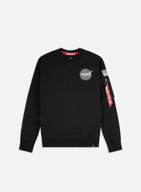 Outlet e Saldi Felpe Girocollo Alpha Industries Nasa Crewneck