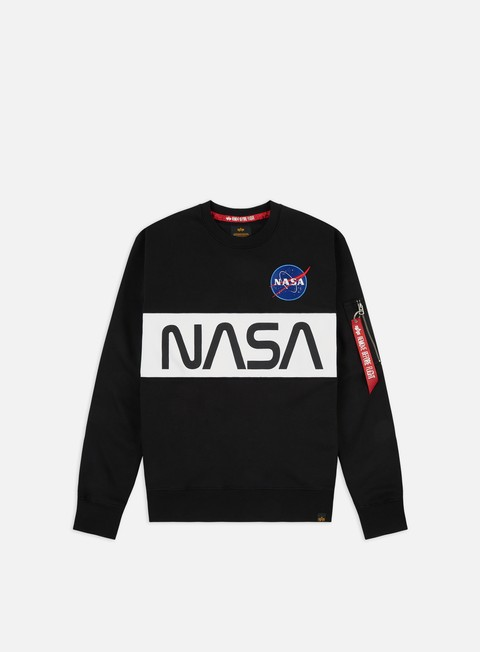 Outlet e Saldi Felpe Girocollo Alpha Industries Nasa Inlay Crewneck