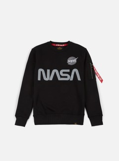 Alpha Industries - Nasa Reflective Crewneck, Black 1