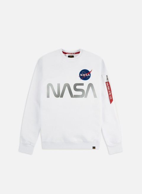 Outlet e Saldi Felpe Girocollo Alpha Industries Nasa Reflective Crewneck