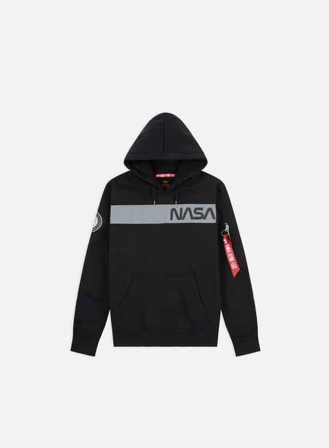 Felpe con Cappuccio Alpha Industries Nasa RS Hoodie